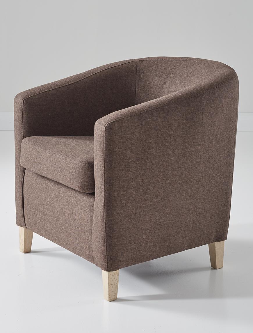 Brauner Sessel seitlich