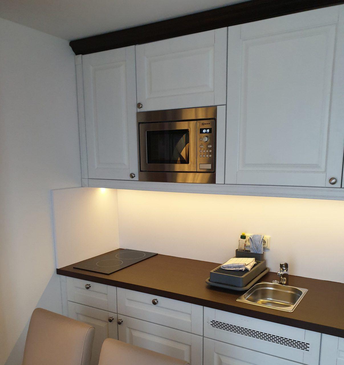 Küche in Hotelzimmer im Hotel Seeklause